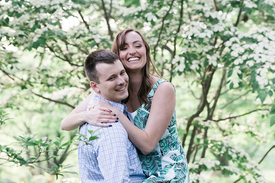 Happy, Fun, Relaxed Couple | Engagement Session | Boston
