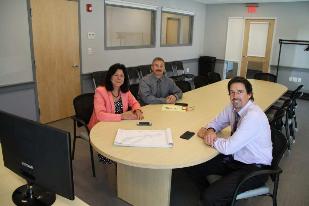 Left-to-right: Mayor Donna Holaday, DPS Director Anthony Furnari and Collection System Superintendent Jamie Tuccolo. (Courtesy Photo)