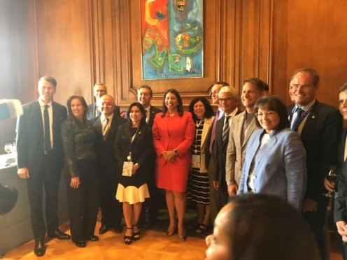 SF Mayor Breed reception for mayors