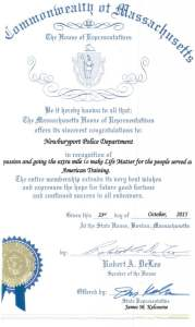 Newburyport Police Department Receives Life Matters Award