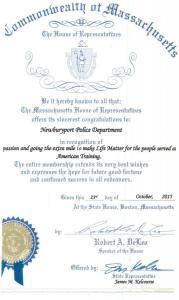 Newburyport Police Department Receives Life Matters Award