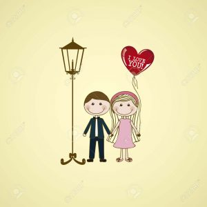 18651110-Illustration-of-couple-in-love-dating-vector-illustration-Stock-Photo
