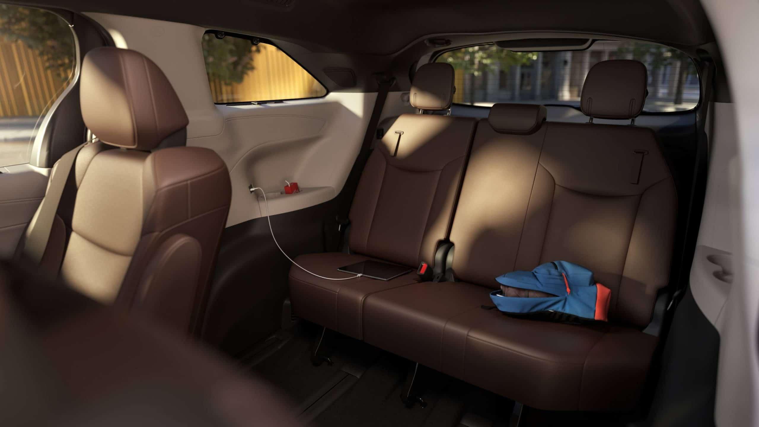 New Toyota Sienna third row seats