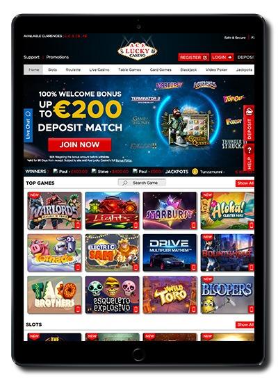 Ace Lucky Casino Match Bonus