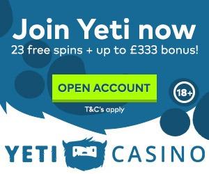 Yeti casino new