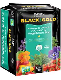 Black Gold Natural & Organic Flower & Vegetable Soil