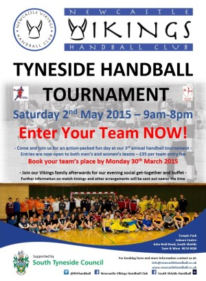 Newcastle Vikings Handball Tournament poster (May 2015)