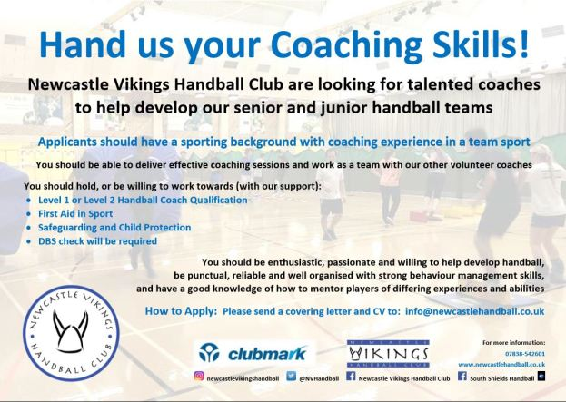 NVHC Coaches Advert