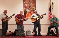 Randy Dudding, along with his brother and friends, ended the evening with songs and jokes that lifted the spirit.