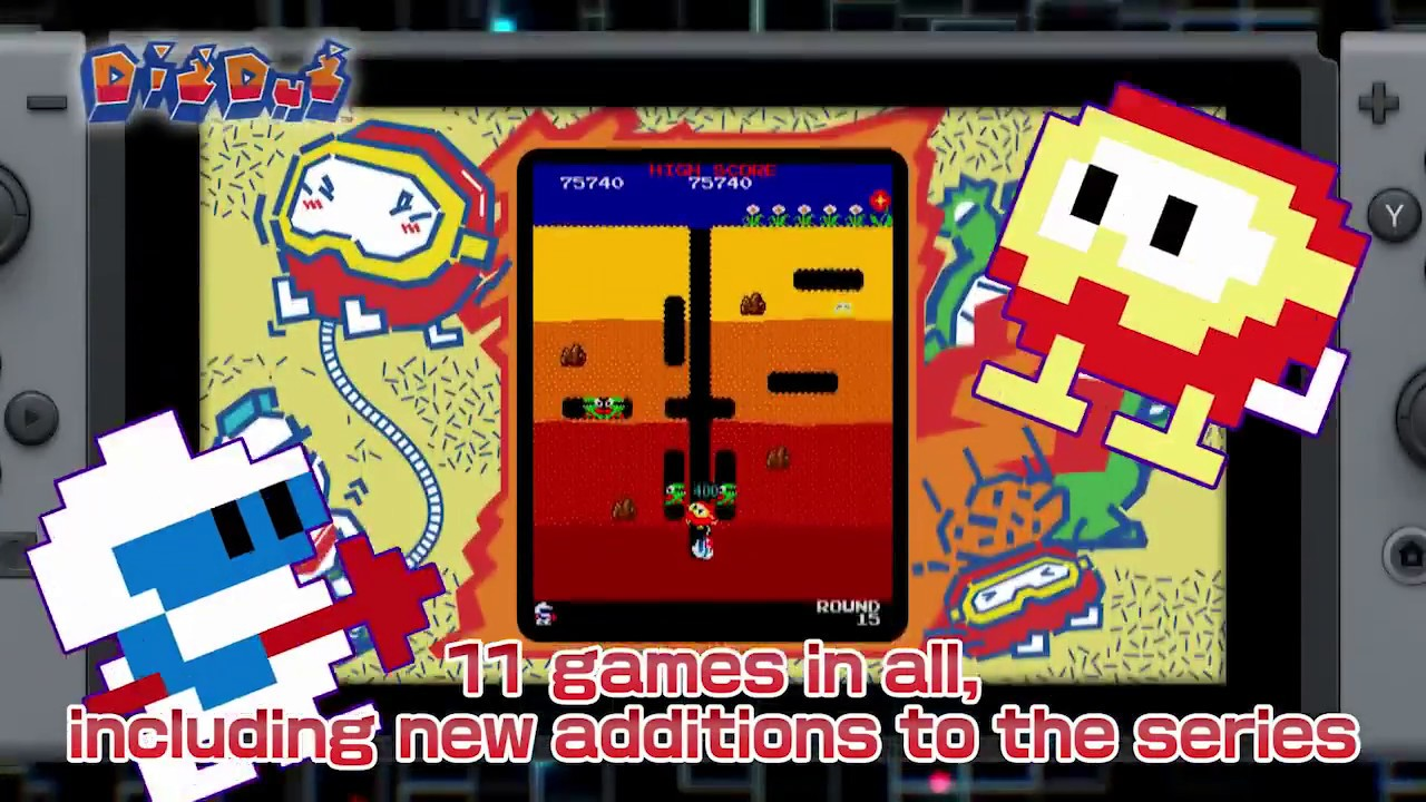 NAMCO MUSEUM Launch Trailer for the Nintendo Switch, and Yes,  PAC-MAN VS is included