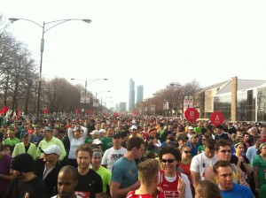 Shamrock Shuffle starting line / photo: Zach Freeman
