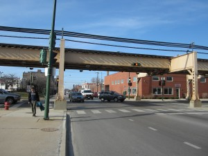 Damen and Lake, where a new Green Line stop is proposed. Photo: John Greenfield
