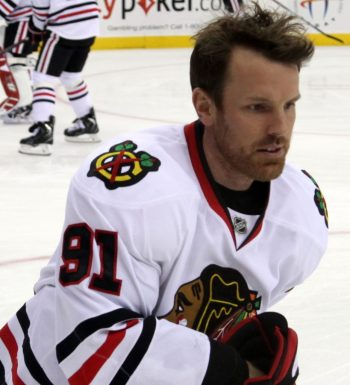 "Brad Richards - Chicago Blackhawks"" by Lisa Gansky from New York,  NY,  USA - IMG_7583. Licensed under CC BY-SA 2.0 via Wikimedia Commons"