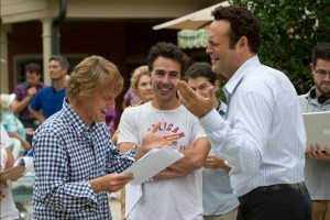 """""""Owen Wilson, director Shawn Levy, and Vince Vaughn enjoy preparing for a scene on the set of THE INTERNSHIP."""""""