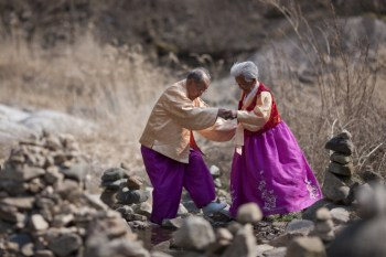 One Hundred-Year-Old Lovebirds