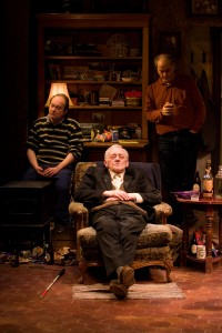 Alan Wilder (Ivan),      John Mahoney (Richard) and Francis Guinan (Sharky). Photo by Michael Brosilow.