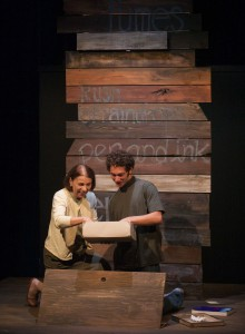 (L to R) Iris Lieberman and Justin Leider/Photo by Anthony Robert La Penna