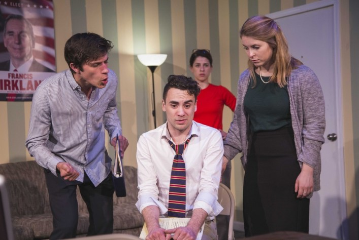 (left to right) Mitch Salm, Luke Michael Grimes, Kate Cornelius-Schecter and Amanda Fink/Photo:  Subar
