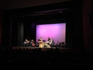Members of wild Up perform Lukas Ligeti's piece, Language: PROUN: music