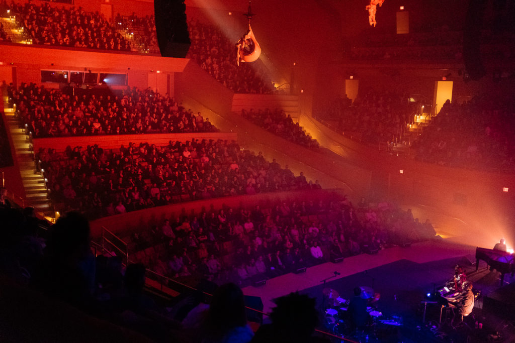 Oneohotrix Point Never's MYRIAD at Walt Disney Concert Hall on October 22, 2018. Photo credit: Angeline Woo
