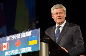 Stephen Harper speaks at 'United for Ukraine Gala' in Toronto on Sept 11, 2014, photo by Office of the Prime Minister of Canada