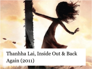 Thanhha Lai, Inside Out & Back Again (2011)