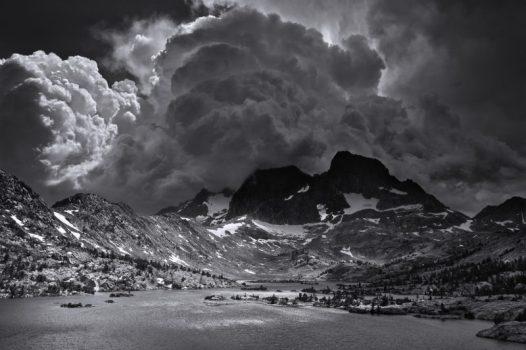 Ansel Adams Wilderness, California. Afternoon Thunderstorm, Garnet Lake.