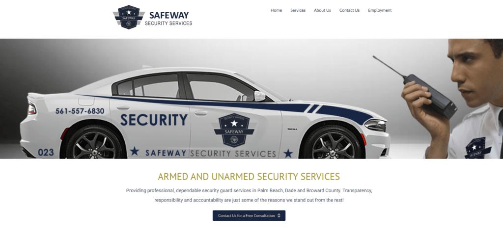 Safeway security services website