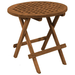Sea Teak Round Folding Deck Table (West Marine) Image