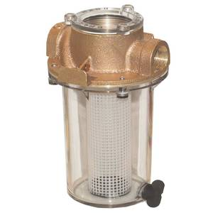 Groco Npt Arg Raw Water Strainer With Plastic Strainer Basket