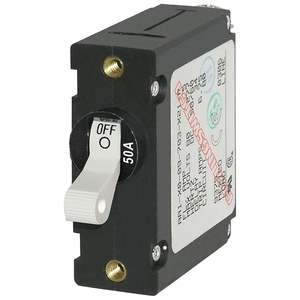 BLUE SEA SYSTEMS ASeries Single Pole White Toggle Circuit Breakers | West Marine