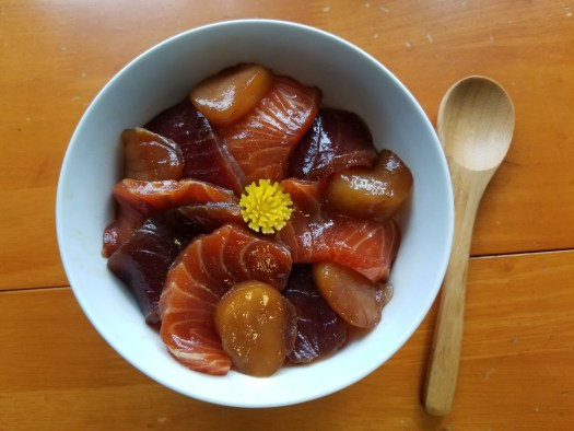 Marinated Sashimi Rice Bowl recipe