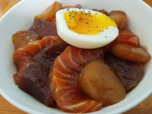 Marinated Sashimi Rice Bowl recipe