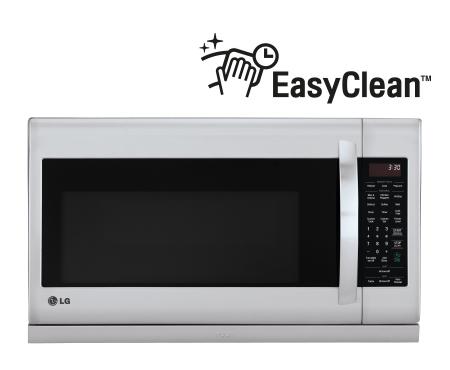 lg 2 0 cu ft otr microwave slide out extendavent and easyclean 400 cfm lmv2055st