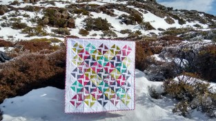 Simply Colorful II Quilt August 2016