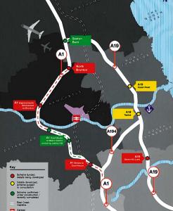 Through Routes - A19, A1, A194