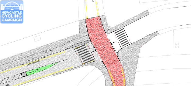 Newcycling proposal using Newcastle City Council design
