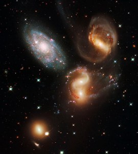 Stephan's Quintet, also known as Hickson Compact Group 92