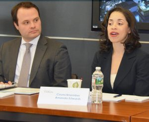 Future of Work policy group co-chairs Massachusetts Senator Eric Lesser and Houston Councilmember Amanda Edwards