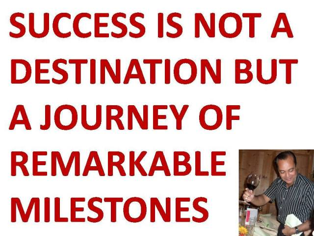Screenshot of Success is not a destination but a journey of remarkable milestones