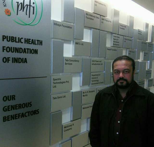 J Podder at PHFI with generous benefactors