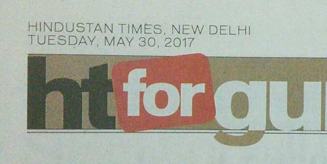 announcement in today's Hindustan Times