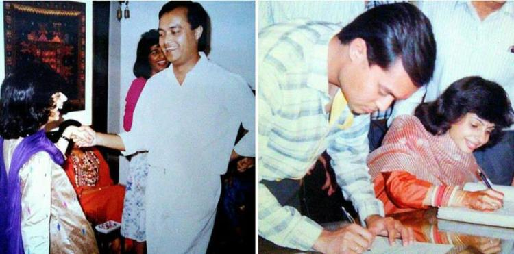 Priti and Joygopal Podder in 1990 - meet and marry