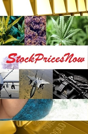 pot stock prices now