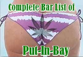 complete bar list of bars in put-in-bay, ohio