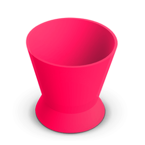 Pote Dappen Silicone Pequeno Rosa - Indusbello