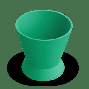 Pote Dappen Silicone Pequeno Verde - Indusbello
