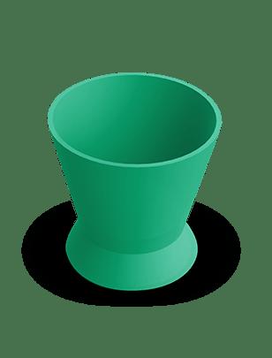 Pote Dappen Silicone Verde- Indusbello