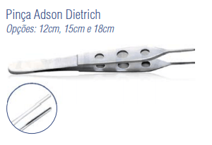 Pinça Adson Dietrich 12cm -Harte