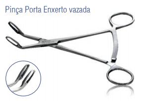 Pinça Porta Enxerto Vazada -Harte